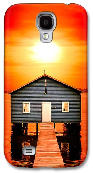 Blood Sunset Panorama Galaxy S4 Case by Az Jackson
