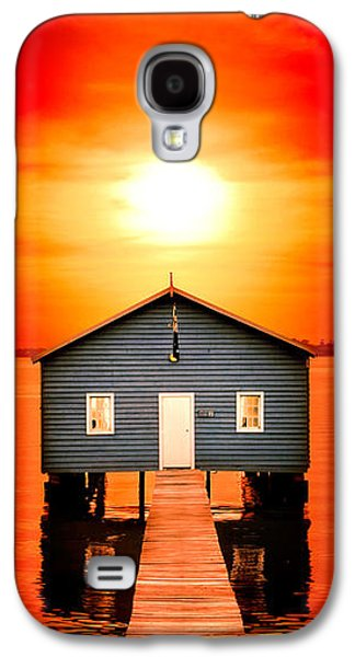 Beach Landscape Galaxy S4 Cases - Blood Sunset Panorama Galaxy S4 Case by Az Jackson