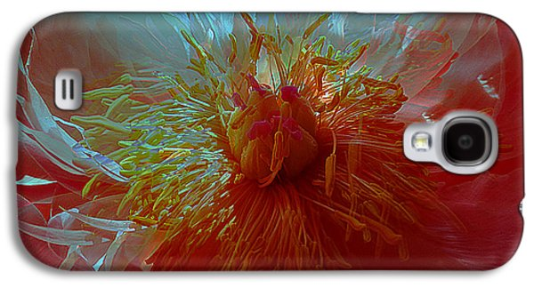 Sabine Stetson Galaxy S4 Cases - Inside the heart of a peonie Galaxy S4 Case by Sabine Stetson