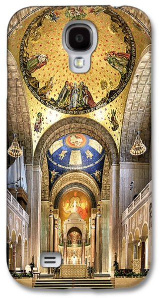 Religious Galaxy S4 Cases - Inside The lica of the National Shrine of the Immaculate Conception Galaxy S4 Case by Brendan Reals