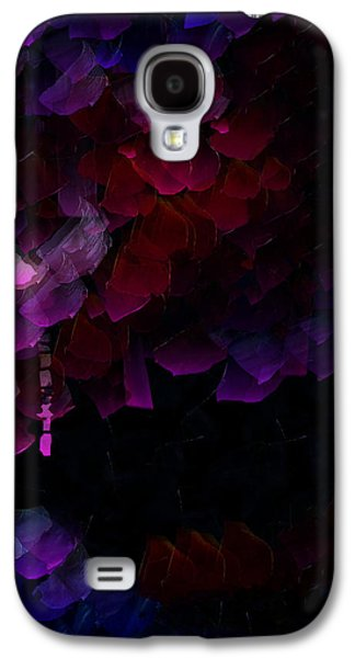Modern Abstract Galaxy S4 Cases - Inside The Purple Dreams - Three Galaxy S4 Case by Sir Josef  Putsche Social Critic