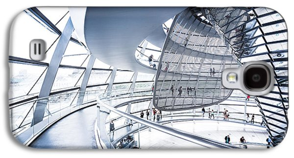 Wide Angled Glass Mirror Galaxy S4 Cases - Inside the Reichstag Dome Galaxy S4 Case by JR Photography