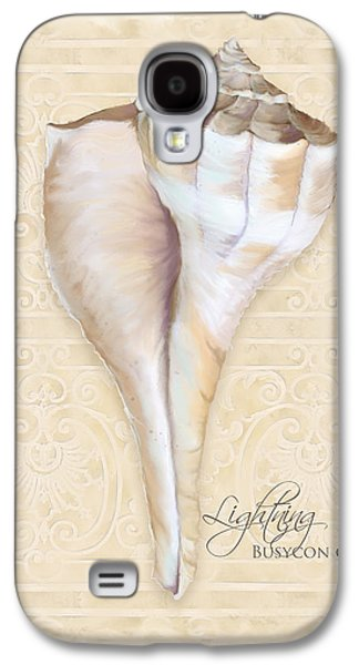 Inspired Coast 3 - Lightning Whelk Shell Busycon Contrarium Galaxy S4 Case by Audrey Jeanne Roberts
