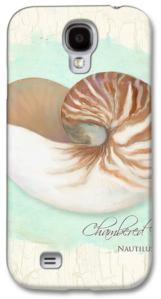 Inspired Coast V - Chambered Nautilus Shell On Board Galaxy S4 Case by Audrey Jeanne Roberts