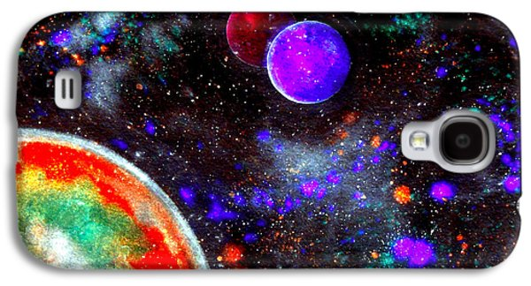 Intergalactic Space Galaxy S4 Cases - Intense Galaxy Galaxy S4 Case by Bill Holkham