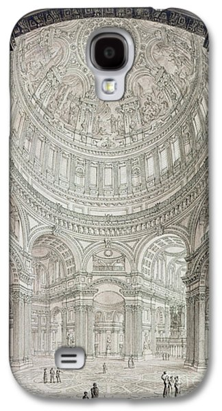 Interior Of Saint Pauls Cathedral Galaxy S4 Case by John Coney
