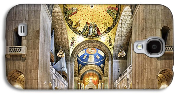 Religious Galaxy S4 Cases - Interior of The Basilica of the National Shrine of the Immaculate Conception Galaxy S4 Case by Brendan Reals