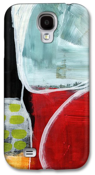 Green Modern Galaxy S4 Cases - Intersection 37- Abstract Art Galaxy S4 Case by Linda Woods