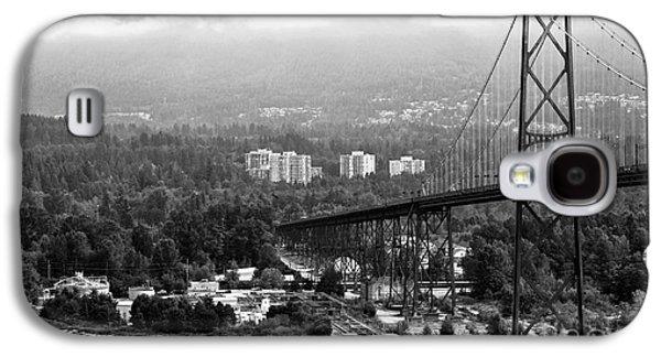Burrard Inlet Galaxy S4 Cases - Into North Vancouver mono Galaxy S4 Case by John Rizzuto