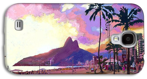 Sunset Galaxy S4 Cases - Ipanema at Sunset Galaxy S4 Case by Douglas Simonson