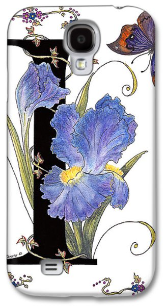 Iris And Indian Leaf Butterfly - Stolen Galaxy S4 Case by Stanza Widen