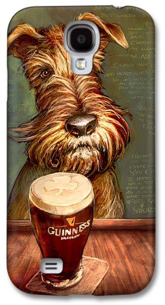 Terrier Galaxy S4 Cases - Irish Stout Galaxy S4 Case by Sean ODaniels