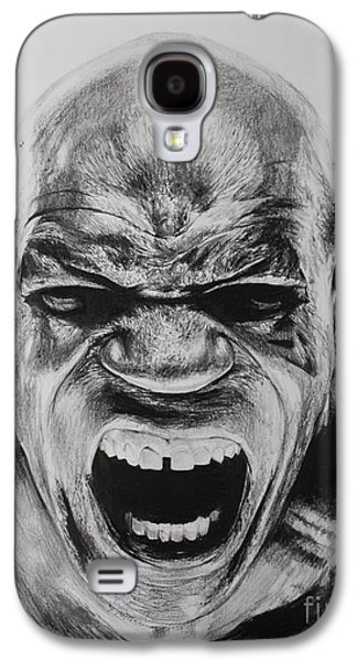 Boxer Drawings Galaxy S4 Cases - Iron Mike Galaxy S4 Case by Joshua Navarra