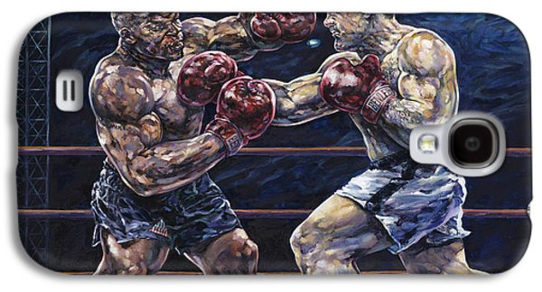 Heavyweight Galaxy S4 Cases - Iron Mike vs. Rocky Galaxy S4 Case by Dennis Goff