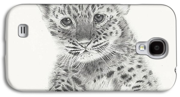 Cheetah Drawings Galaxy S4 Cases - Irresistable Galaxy S4 Case by Sandra Weiner