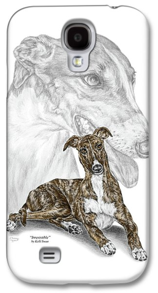 Irresistible - Greyhound Dog Print Color Tinted Galaxy S4 Case by Kelli Swan