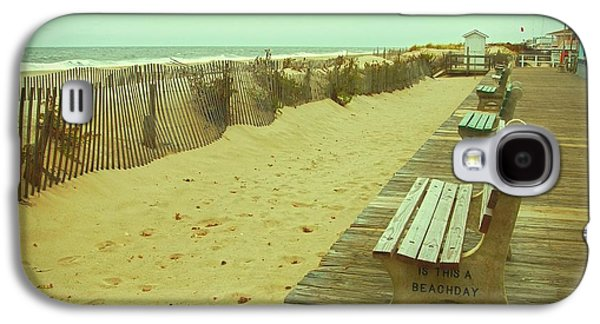Beach Landscape Galaxy S4 Cases - Is This A Beach Day - Jersey Shore Galaxy S4 Case by Angie Tirado
