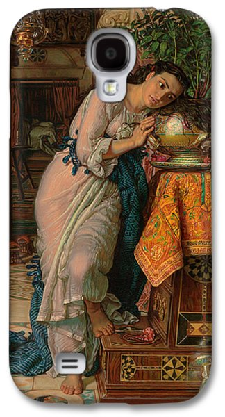 Sadness Paintings Galaxy S4 Cases - Isabella and the Pot of Basil Galaxy S4 Case by William Holman Hunt