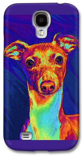 Best Sellers -  - Puppy Digital Art Galaxy S4 Cases - Italian Greyhound  Galaxy S4 Case by Jane Schnetlage