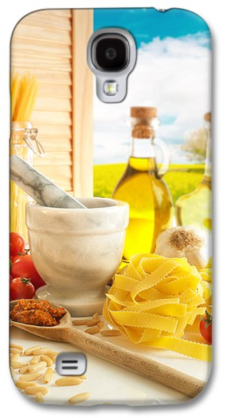 Spaghetti Galaxy S4 Cases - Italian Pasta In Country Kitchen Galaxy S4 Case by Amanda And Christopher Elwell