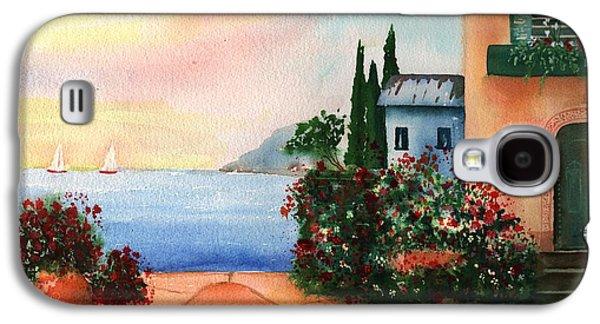 Italian Sunset Villa By The Sea Galaxy S4 Case by Sharon Mick