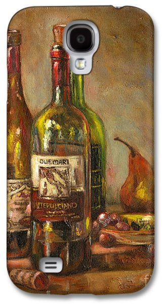 Italian Wine Paintings Galaxy S4 Cases - Italian Wine Bottles Galaxy S4 Case by Brenda Brannon