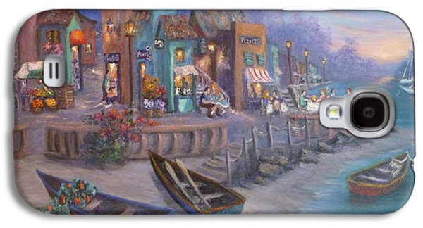 Italy Tuscan Decor Painting Seascape Village By The Sea Galaxy S4 Case by Amber Palomares