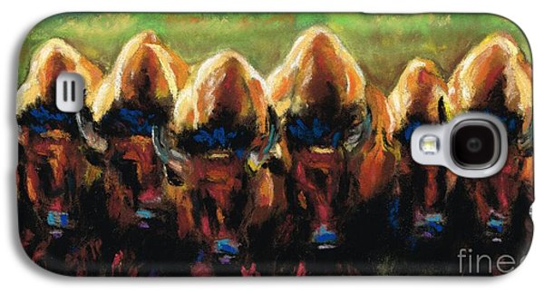 Bison Pastels Galaxy S4 Cases - Its All Bull Galaxy S4 Case by Frances Marino