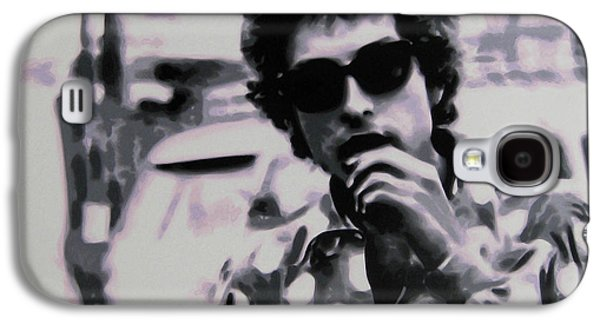 Bob Dylan Paintings Galaxy S4 Cases - Its Not Dark Yet But Its Getting There Galaxy S4 Case by Luis Ludzska