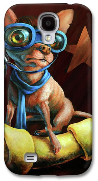Dog Paintings Galaxy S4 Cases - Ive Got Mine Galaxy S4 Case by Vanessa Bates