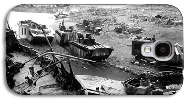 Americans Galaxy S4 Cases - Iwo Jima Beach Galaxy S4 Case by War Is Hell Store