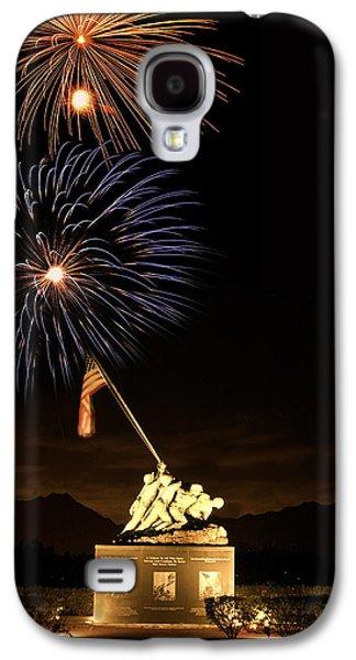 Pyrotechnics Galaxy S4 Cases - Iwo Jima Flag Raising Galaxy S4 Case by Michael Peychich