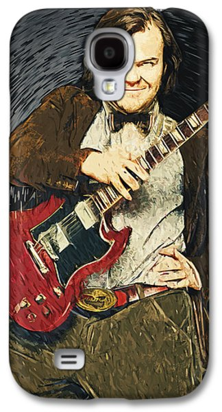 Led Zeppelin Paintings Galaxy S4 Cases - Jack Black Galaxy S4 Case by Taylan Soyturk