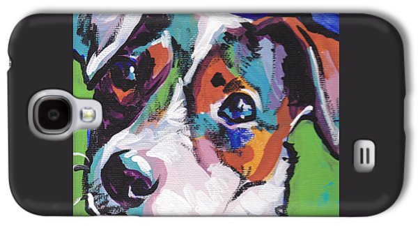 Puppies Galaxy S4 Cases - Jack out of the Box Galaxy S4 Case by Lea