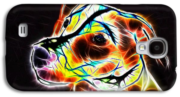 Nature Abstracts Galaxy S4 Cases - Jack Russell Terrier Luminous Galaxy S4 Case by Alexey Bazhan