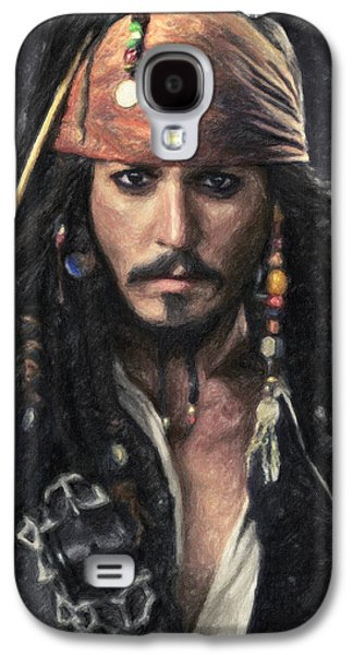 Keith Richards Paintings Galaxy S4 Cases - Jack Sparrow Galaxy S4 Case by Taylan Soyturk