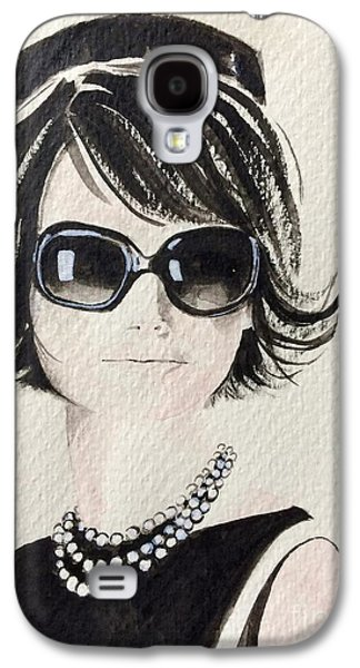 First Lady Paintings Galaxy S4 Cases - Jackie  Galaxy S4 Case by Barbara Chase