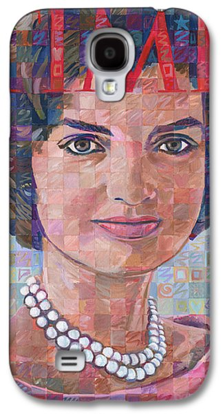 First Lady Paintings Galaxy S4 Cases - Jackie Kennedy Time Tribute Galaxy S4 Case by Randal Huiskens