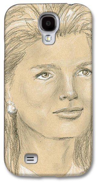 First Lady Drawings Galaxy S4 Cases - Jacqueline Kennedy Galaxy S4 Case by P J Lewis