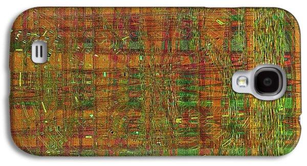 Abstract Digital Digital Galaxy S4 Cases - Jade Yellows Galaxy S4 Case by Joshua Moore