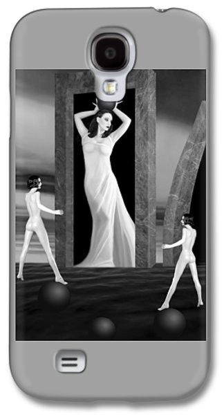 Dreamscape Galaxy S4 Cases - JAEDEs Fortress - Self Portrait Galaxy S4 Case by Jaeda DeWalt