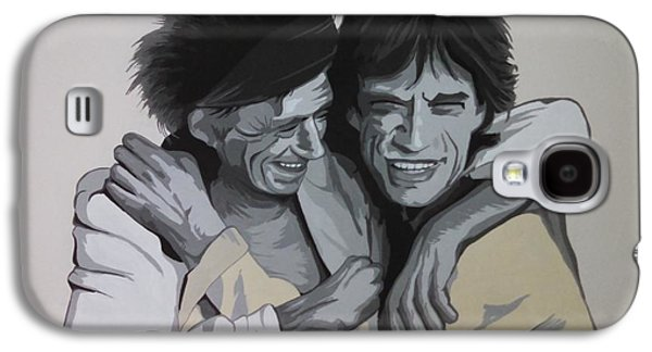 Keith Richards Galaxy S4 Cases - Jagger/richards Galaxy S4 Case by Ken Jolly