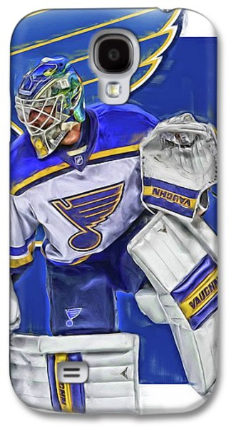 Jake Allen St Louis Blues Oil Art Galaxy S4 Case by Joe Hamilton