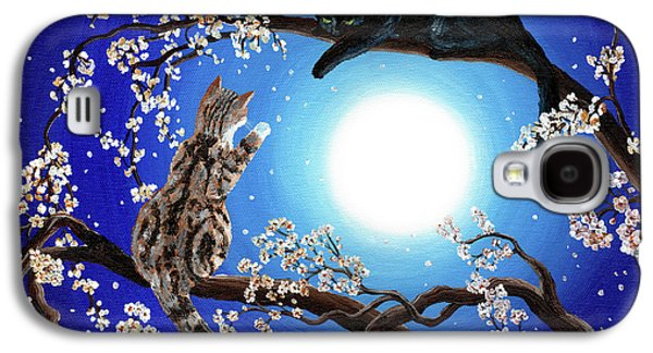 Cherry Blossoms Galaxy S4 Cases - Jake and Sasha Galaxy S4 Case by Laura Iverson