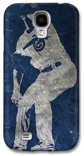 Jake Arrieta Chicago Cubs Art Galaxy S4 Case by Joe Hamilton