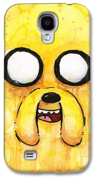 Face Mixed Media Galaxy S4 Cases - Jake Galaxy S4 Case by Olga Shvartsur