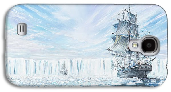 James Clark Ross Discovers Antarctic Ice Shelf Galaxy S4 Case by Vincent Alexander Booth