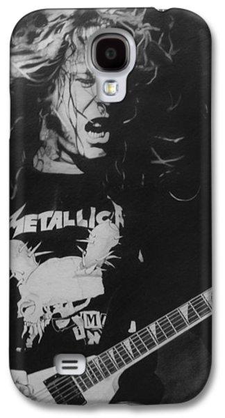 Metallica Galaxy S4 Cases - James Hetfield Pencil 1987 Galaxy S4 Case by Brian Carlton