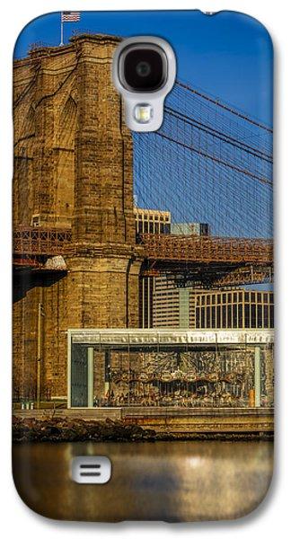 Urban Galaxy S4 Cases - Janes Carousel Brooklyn Bridge Galaxy S4 Case by Susan Candelario