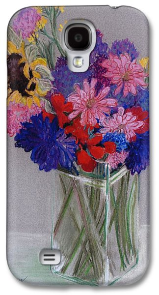 Food And Beverage Pastels Galaxy S4 Cases - Jans Flowers Galaxy S4 Case by Joan Thewsey
